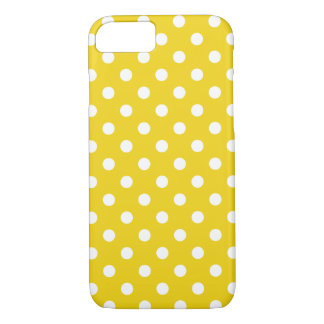 Lemon Yellow Polka Dot iPhone 7 Case