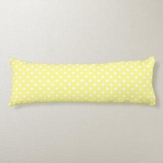 Lemon Yellow Polka Dot Pattern Body Cushion