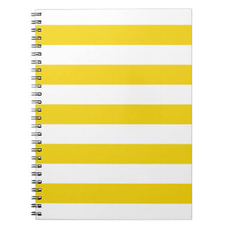 Lemon Zest Yellow Stripes Pattern Notepad Notebook