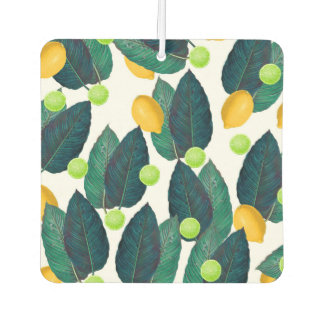 lemons and limes car air freshener