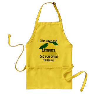 Lemons Tequila Funny Yellow Apron
