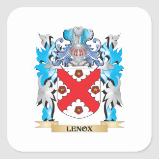 Lenox Coat of Arms - Family Crest Square Sticker