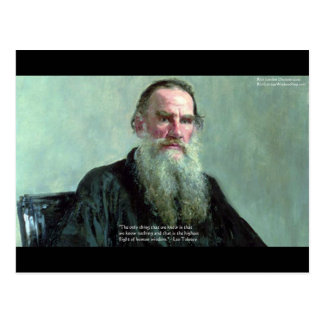 """Leo Tolstoy """"Know Nothing"""" Quote GIfts Tees Cards Postcard"""
