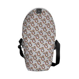 Leo Zodiac Symbol Element Messenger Bags