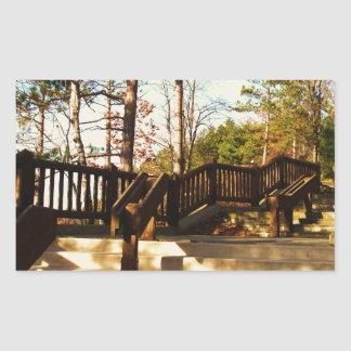 Leonard Harrison St Pk Overlook Stairs Rectangular Sticker