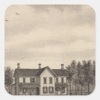 Leonard residence, Quenemo, Kansas Square Sticker