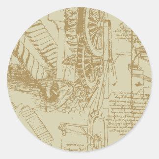 Leonardo Da Vinci Artwork Classic Round Sticker