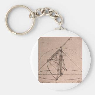 Leonardo da Vinci, design for a parabolic compass Key Ring