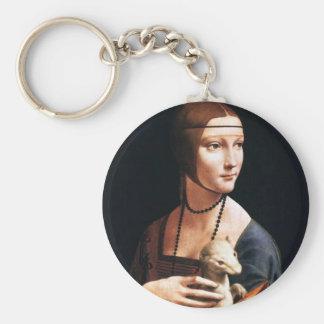 Leonardo Da Vinci Lady with an Ermine Key Chain