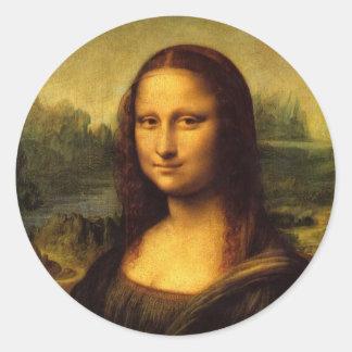 Leonardo Da Vinci  Mona Lisa Classic Round Sticker
