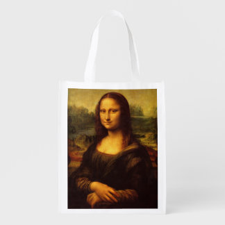 Leonardo Da Vinci Mona Lisa Fine Art Painting Reusable Grocery Bag