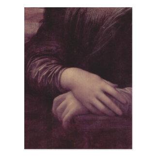 Leonardo da Vinci Mona Lisa (La Giaconda), Detail: Postcard