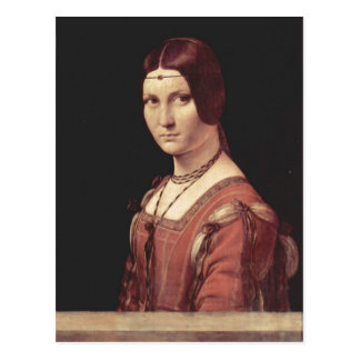 Leonardo da Vinci Portr?t einer jungen Frau (La be Post Card