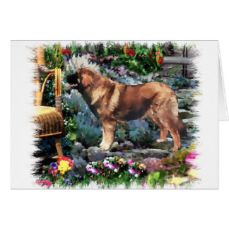 Leonberger Art Gifts Card