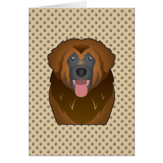 Leonberger Cartoon Card