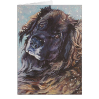 Leonberger Christmas Holiday Card