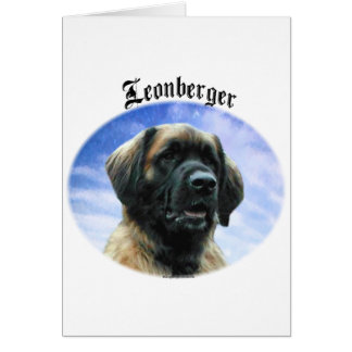 Leonberger Clouds Card