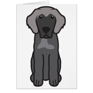 Leonberger Dog Cartoon Card