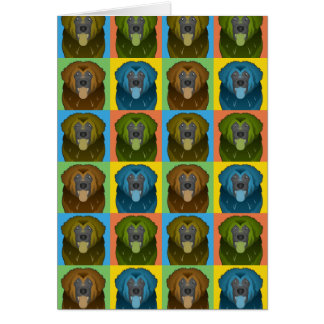 Leonberger Dog Cartoon Pop-Art Card