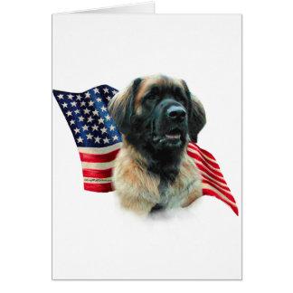 Leonberger Flag Card