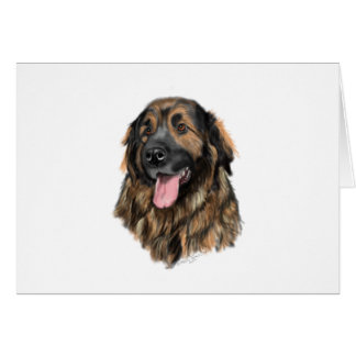 Leonberger Head Study Card