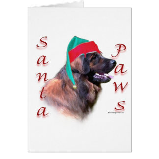 Leonberger Santa Paws Card