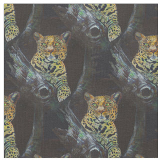 Leopard at night. fabric