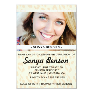 Leopard Class of 2014 Graduation Party Invitation