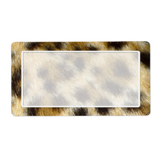 Leopard Fur Print Shipping Labels