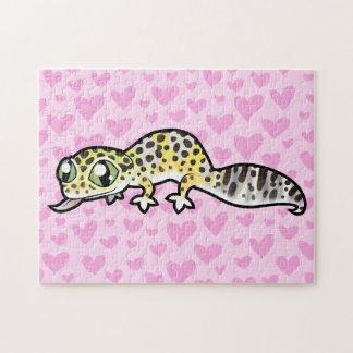 Leopard Gecko Love Jigsaw Puzzle