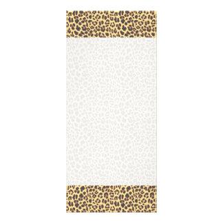 Leopard Print Animal Skin Pattern Rack Card