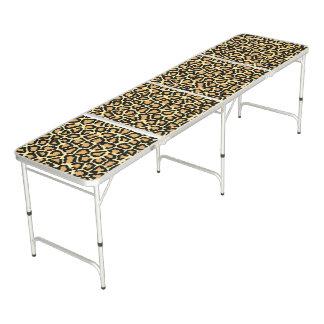 Leopard Print Beer Pong Table