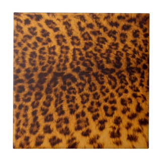 Leopard print black spotted Skin Texture Template Small Square Tile