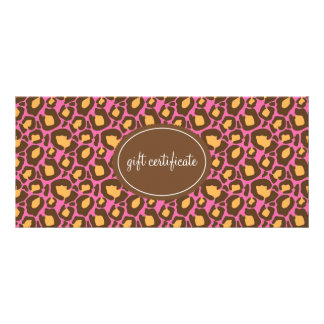 Leopard Print Boutique Style Gift Certificates Customised Rack Card