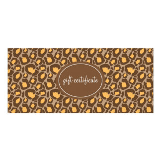 Leopard Print Boutique Style Gift Certificates Customized Rack Card