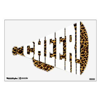 "Leopard Print ""Cheer!"" Megaphone"