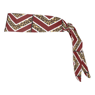 Leopard Print Chevron Athletic Headband