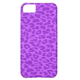 Leopard Print Fur. Vintage Orchid (vilolet) Color iPhone 5C Case