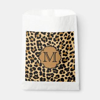 Leopard Print Monogram Favor Bag Favour Bags