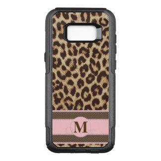 Leopard Print Monogram Samsung Galaxy S8+ Case