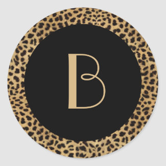 Leopard Print Monogram Sticker