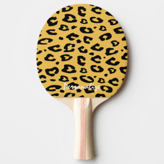 Leopard print ping pong paddle for table tennis