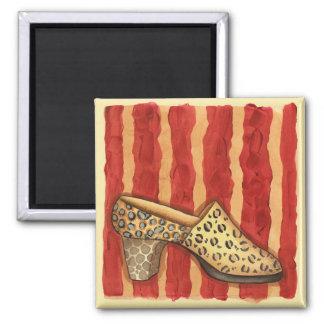 Leopard Print Shoe - Magnet
