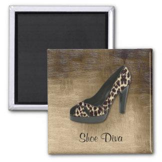Leopard Shoe Diva Magnet