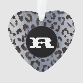 Leopard Skin in Blue Slate Ornament