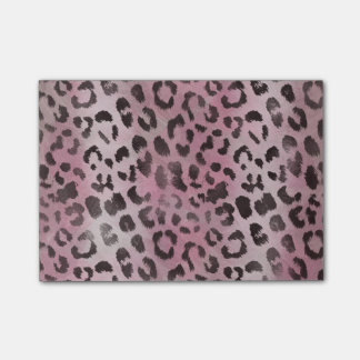 Leopard Skin Print in Pink Rose Post-it® Notes