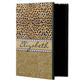 Leopard Spot Gold Glitter Rhinestone PHOTO PRINT Powis iPad Air 2 Case