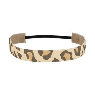 Leopard Spots Athletic Headband Elastic Headbands