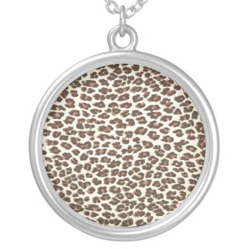 Leopard Spots Sterling Silver Necklace Pendent