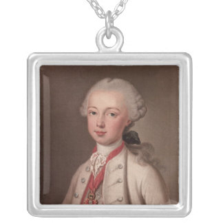 Leopold II  Holy Roman Silver Plated Necklace